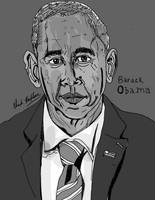 President Barack Obama Portrait by LeevanCleefIII