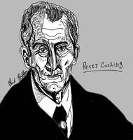 Peter Cushing Portrait by LeevanCleefIII