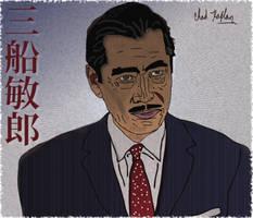 Toshiro Mifune Portrait by LeevanCleefIII