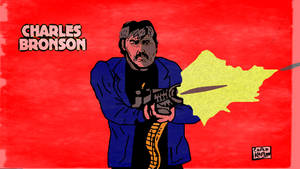 Charles Bronson Cartoon by LeevanCleefIII