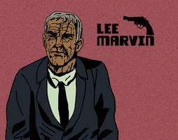 Lee Marvin Cartoon by LeevanCleefIII