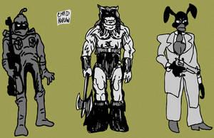 Ralph Bakshi Character Trio by LeevanCleefIII
