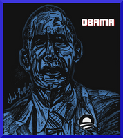 President Barack Obama (first second term drawing) by LeevanCleefIII