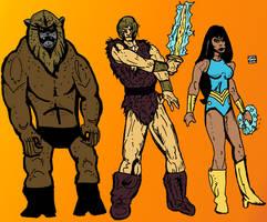 Thundarr the Barbarian Characters by LeevanCleefIII