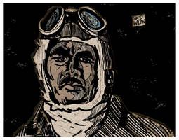 Japanese Pilot Portrait by LeevanCleefIII