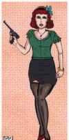 Femme Fatale Redhead