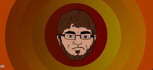Retro Cartoon Self-Portrait
