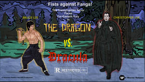 Bruce Lee THE DRAGON VS. DRACULA (movie poster) by LeevanCleefIII