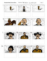 THE BIG GUNDOWN Reverse Storyboard01 by LeevanCleefIII