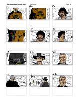 THE BIG GUNDOWN Reverse Storyboard02 by LeevanCleefIII
