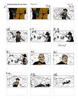 THE BIG GUNDOWN Reverse Storyboard03 by LeevanCleefIII