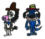 HB Characters (Drawn by a 7 or 8 year old me)