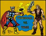 Thundarr vs. Thor (Color Version)