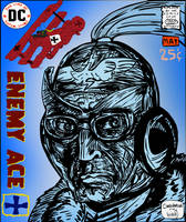 Enemy Ace (Comic Cover Design) by LeevanCleefIII