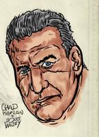 George C. Scott (Doug Wildey Ink and Paint Study) by LeevanCleefIII