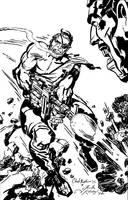 Jack Kirby Nick Fury Inking by LeevanCleefIII