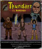 THUNDARR THE BARBARIAN (80s Italian movie poster) by LeevanCleefIII