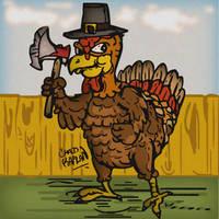 Thanksgiving Turkey 2013 by LeevanCleefIII