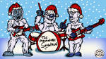 Rock 'n' Roll Christmas Yetis!