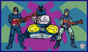 Blue Beetles as 'The Blue Beatles' by LeevanCleefIII