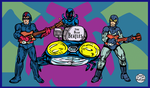 Blue Beetles as 'The Blue Beatles'