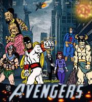 Hanna-Barbera AVENGERS poster parody by LeevanCleefIII