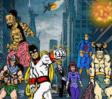Hanna-Barbera AVENGERS poster parody (detail) by LeevanCleefIII