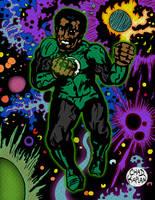 John Stewart Green Lantern by LeevanCleefIII