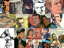 Comic Book Actor Likeness Collage Vol. 2 by LeevanCleefIII