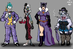 Disney Villains as Batman Villains by LeevanCleefIII