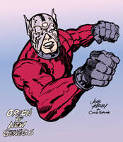 Jack Kirby Orion (Inks and Colors) by LeevanCleefIII