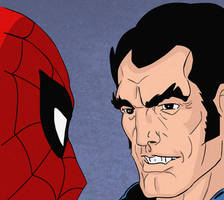 Spider-Man and The Punisher (Inks and Colors) by LeevanCleefIII