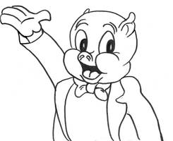 Porky Pig Study by LeevanCleefIII