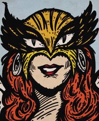 Hawkgirl by LeevanCleefIII
