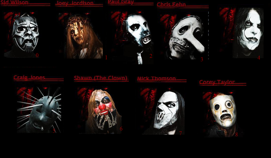 Slipknot members by psycho-zombie
