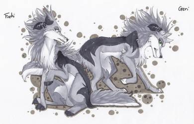 Geri + Freki by Rabbiata