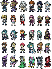 Assorted Yugioh Sprite Sheet by FalconintheSky