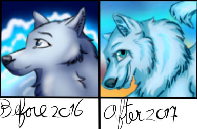 Before and after profile pic - 2016/2017 by AleaFlight