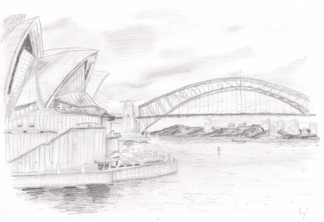 Sydney Opera House - sketch by TheRockyDoo on DeviantArt