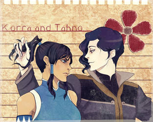Korra and Tahno by Purple-Meow