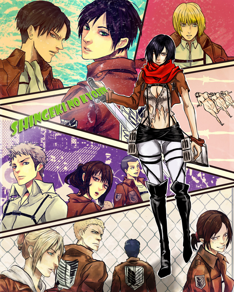 Shingeki No Kyojin Characters By Purple-Meow On DeviantArt