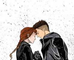 Clint and Natasha aka Hawkeye Black Widow