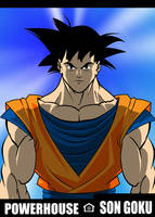 Son Goku is a Powerhouse by RODCOM1000