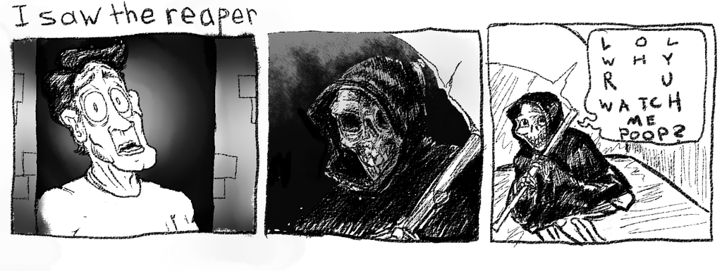 I Saw The Reaper by Chongothedrawfriend