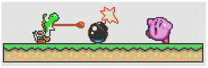 Yoshi+Kirby 'Noooo' pattern