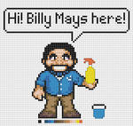 Deluxe Billy Mays x-stitch