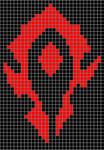 Horde WoW xstitch pattern