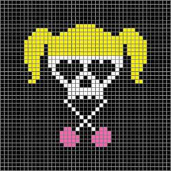 Lollipop Chainsaw - cross stitch pattern
