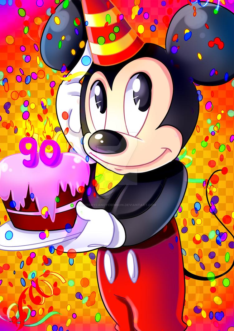 Happy Birthday Mickey Mouse By Cherrycandycrimson On