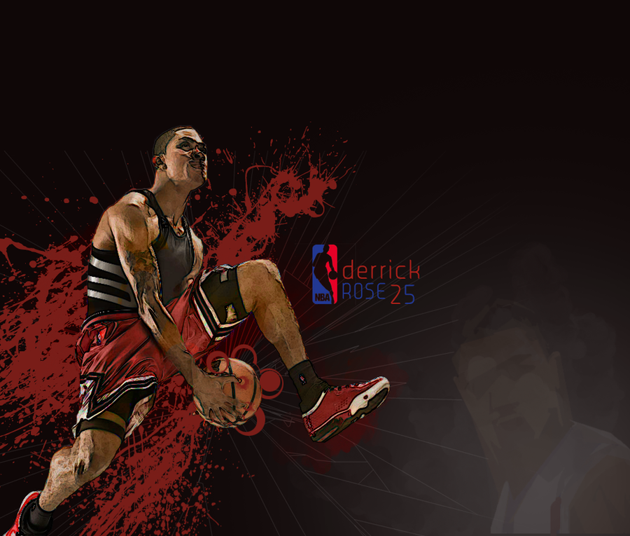Derrick Rose Logo Vector Derrick Rose Vector by Momage